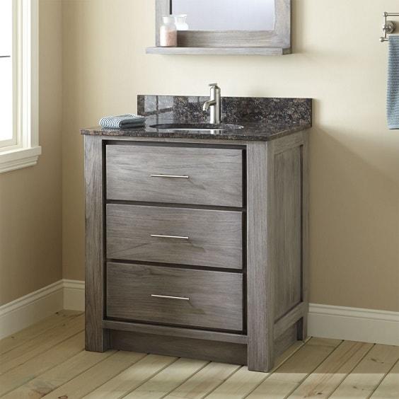 weathered wood bathroom vanity ideas 24-min