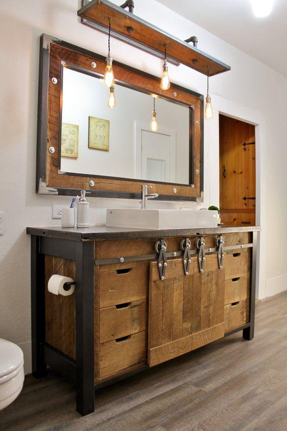weathered wood bathroom vanity ideas 25-min