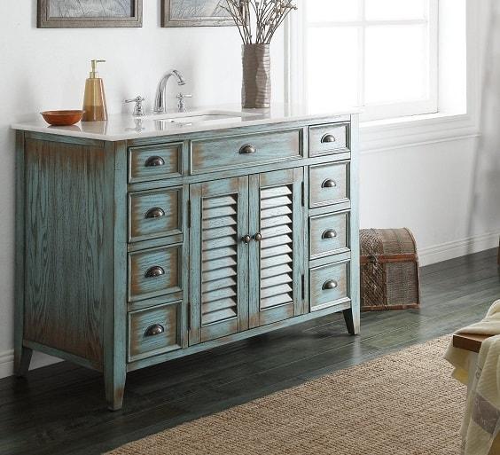 weathered wood bathroom vanity ideas 26-min