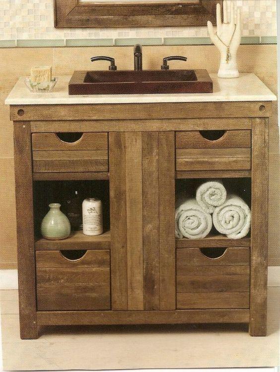 weathered wood bathroom vanity ideas 4-min