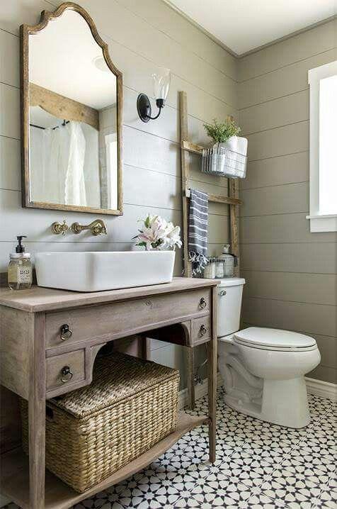 weathered wood bathroom vanity ideas 6-min