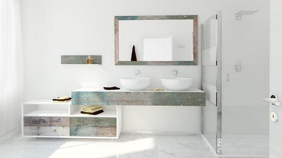 weathered wood bathroom vanity ideas 9-min