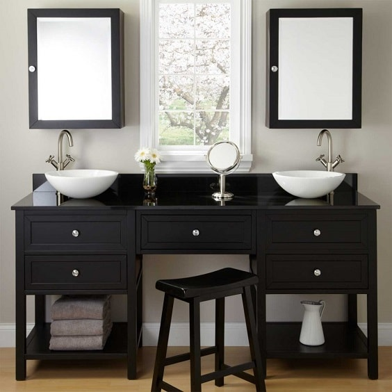 Bathroom Vanity with Makeup Counter Ideas 10-min