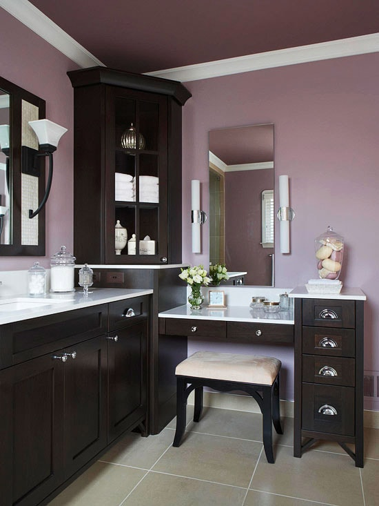Bathroom Vanity with Makeup Counter Ideas 16-min
