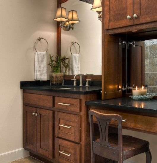 Bathroom Vanity with Makeup Counter Ideas 17-min
