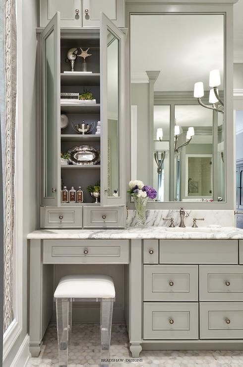 Bathroom Vanity with Makeup Counter Ideas 22-min