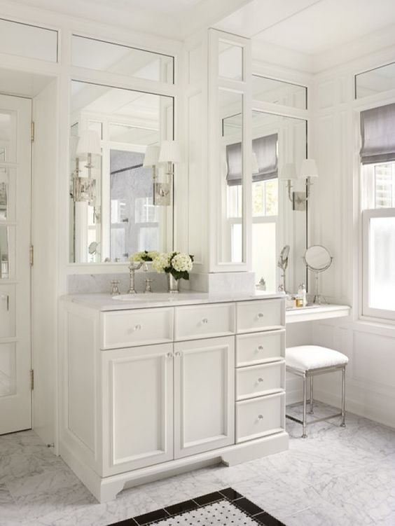 Bathroom Vanity with Makeup Counter Ideas 23-min