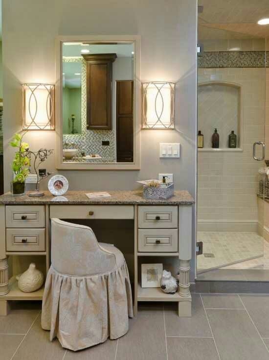 Bathroom Vanity with Makeup Counter Ideas 24-min