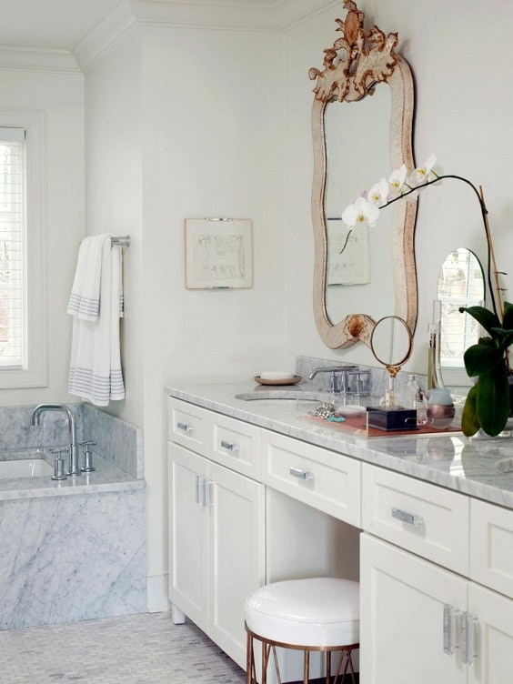 Bathroom Vanity with Makeup Counter Ideas 25-min