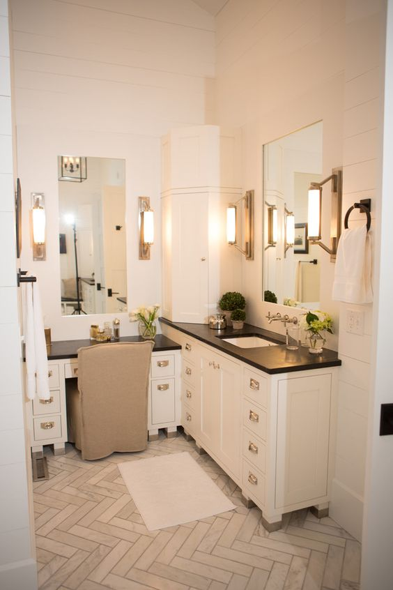 Bathroom Vanity with Makeup Counter Ideas 26-min
