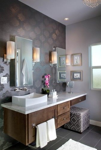30 Most Outstanding Bathroom Vanity With Makeup Counter Ideas