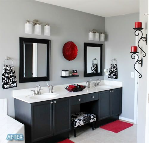 Bathroom Vanity with Makeup Counter Ideas 4-min