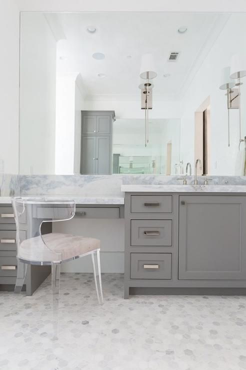 Bathroom Vanity with Makeup Counter Ideas 5-min