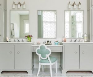 Bathroom Vanity with Makeup Counter Ideas 7-min