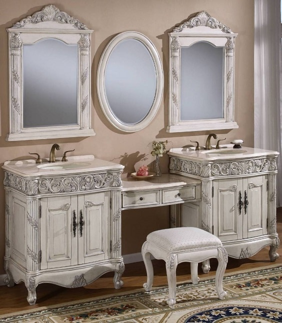 Bathroom Vanity with Makeup Counter Ideas 9-min