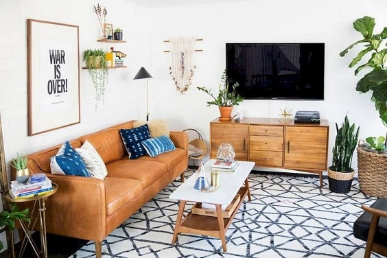 Boho Living Room Decoration 1-min