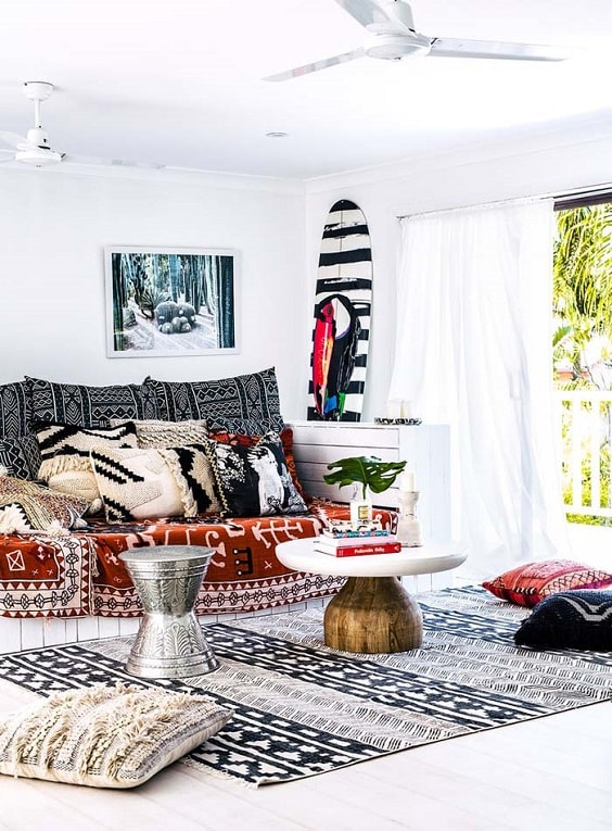 Boho Living Room Decoration 15-min