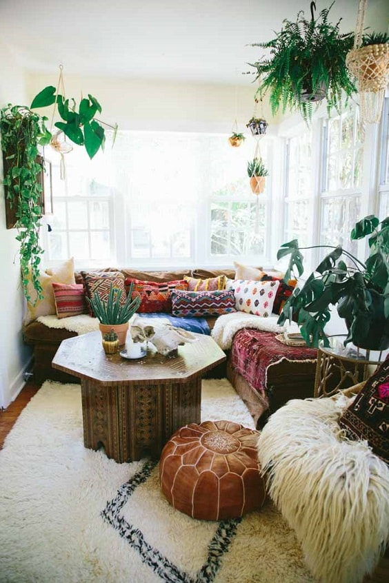 Boho Living Room Decoration 2-min