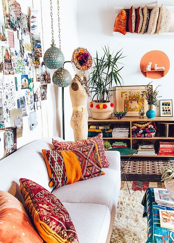 Boho Living Room Decoration 9-min
