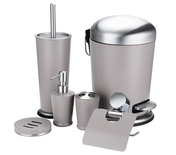 Silver Bathroom Accessories Set 11-min