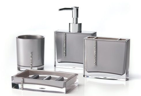 Silver Bathroom Accessories Set 12-min