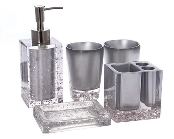 Silver Bathroom Accessories Set 13-min