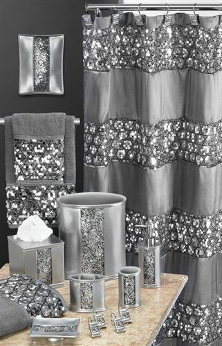 Silver Bathroom Accessories Set 15-min