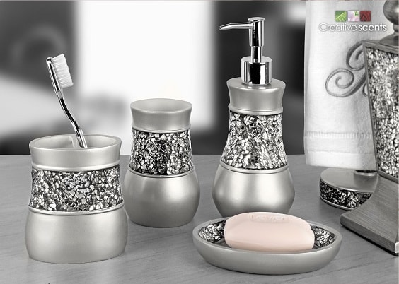 Silver Bathroom Accessories Set 2-min