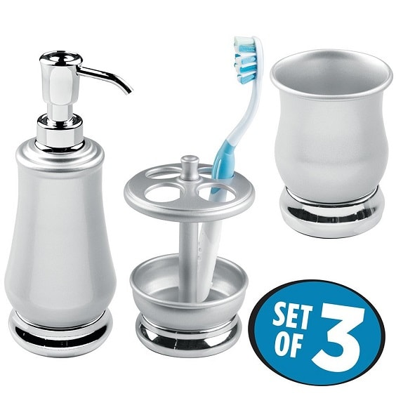 Silver Bathroom Accessories Set 4-min