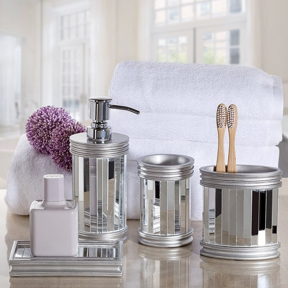 Silver Bathroom Accessories Set, Silver Bathroom Accessories Sets