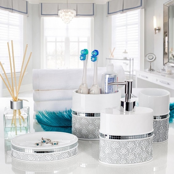 Silver Bathroom Accessories Set 7-min