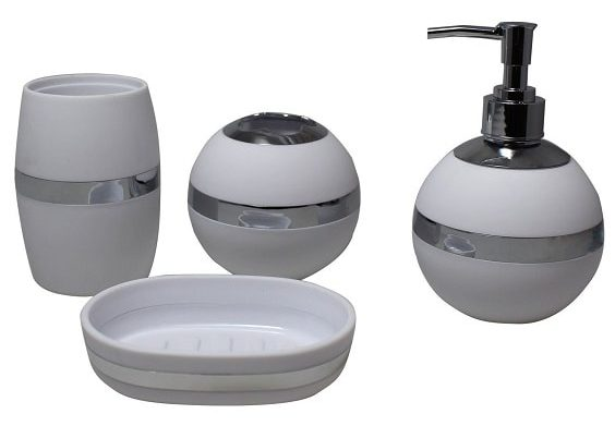 Silver Bathroom Accessories Set 8-min