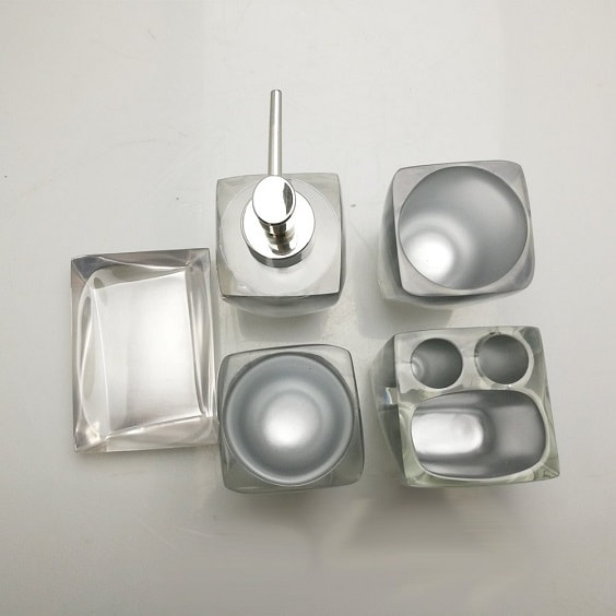 Silver Bathroom Accessories Set 9-min