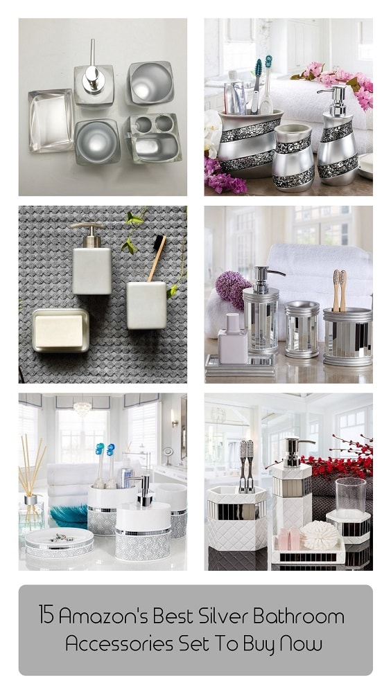 Silver Bathroom Accessories Set-min