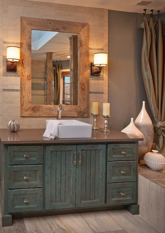 distressed wood bathroom vanity 10