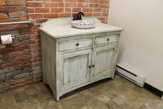 distressed wood bathroom vanity 12-min