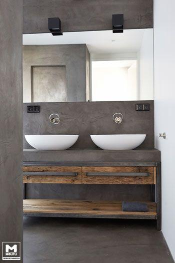 distressed wood bathroom vanity 15-min