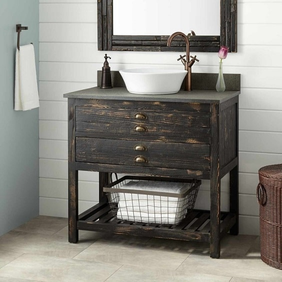 distressed wood bathroom vanity 17-min