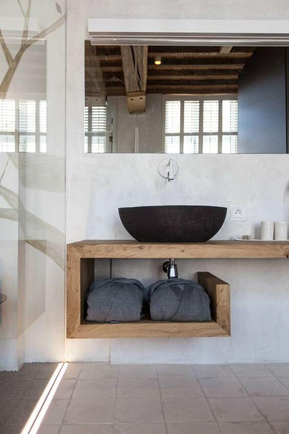 distressed wood bathroom vanity 1`7