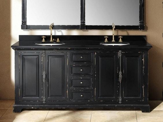 distressed wood bathroom vanity 23-min