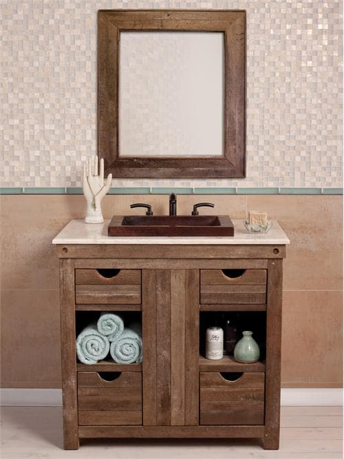 distressed wood bathroom vanity 24-min