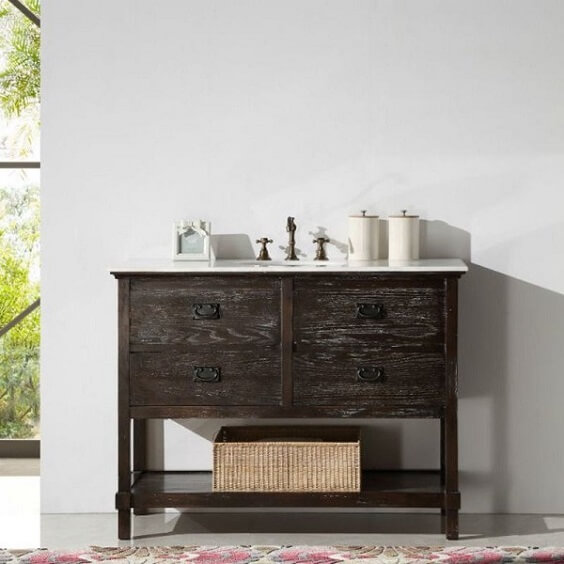 30 Stylish Distressed Wood Bathroom Vanity Design Ideas