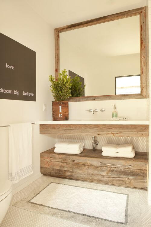distressed wood bathroom vanity 4
