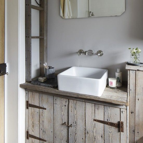 distressed wood bathroom vanity 5