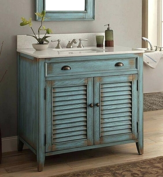 distressed wood bathroom vanity 6