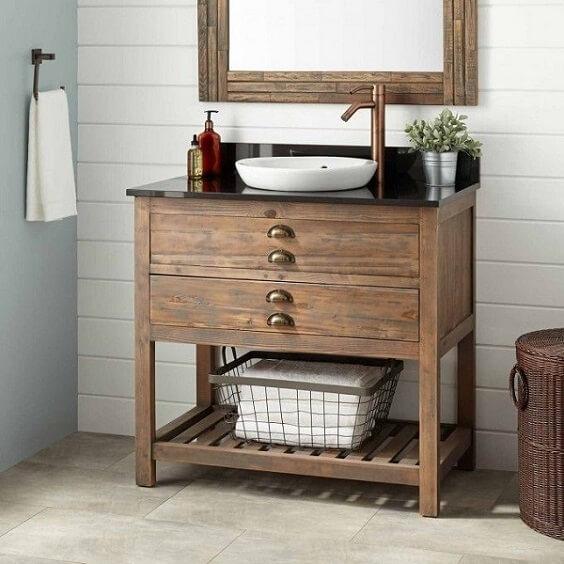 distressed wood bathroom vanity 7