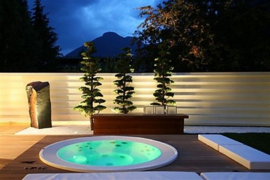 hot tub landscaping 12-min