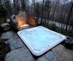 hot tub landscaping 13-min