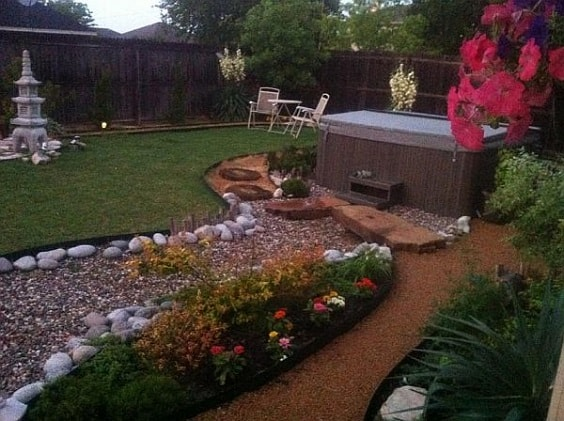 hot tub landscaping 29-min