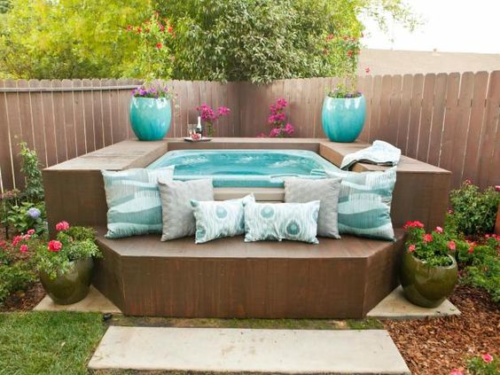 hot tub landscaping 6-min